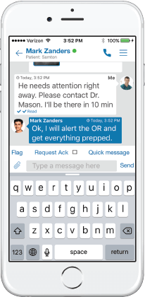 iphone and android direct messaging healthcare