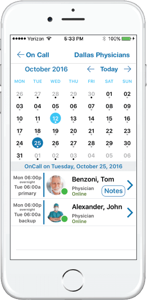 on call scheduler healthcare app