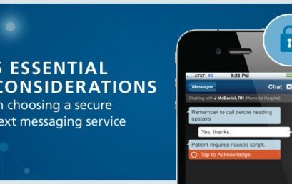 Five Essential Considerations in Choosing a Secure Text Messaging Service