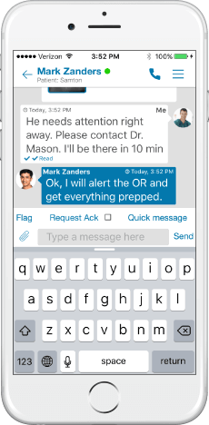secure text messaging for healthcare