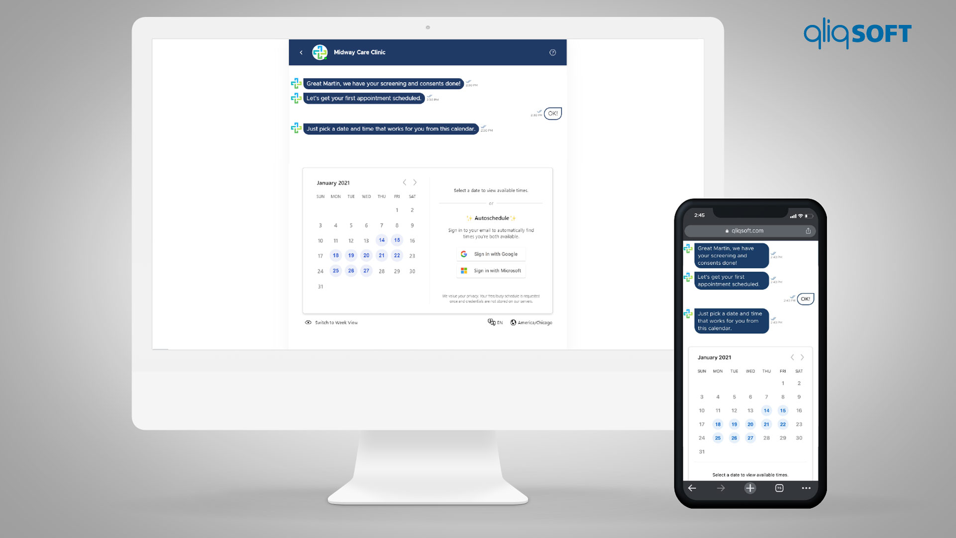 QliqSOFT Announces Integrated Self-Scheduling Into COVID-19 Vaccine Assistant Chatbot
